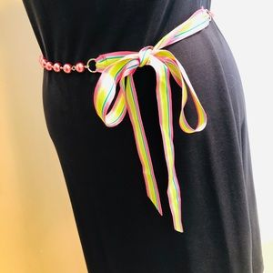 Beads and colorful sash belt